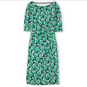 Boden Annie Half Sleeve Blue Green Floral Dress